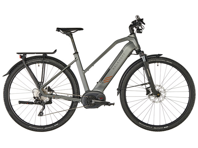 Kalkhoff Entice 5.B Tour Bicicletta elettrica da trekking Trapez 500Wh grigio
